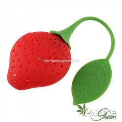 Boule à thé en silicone en forme de fraise