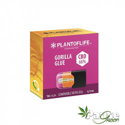 Cartouche POD   Wax + GORILLA GLUE - 66% De CBD - 0.75ml