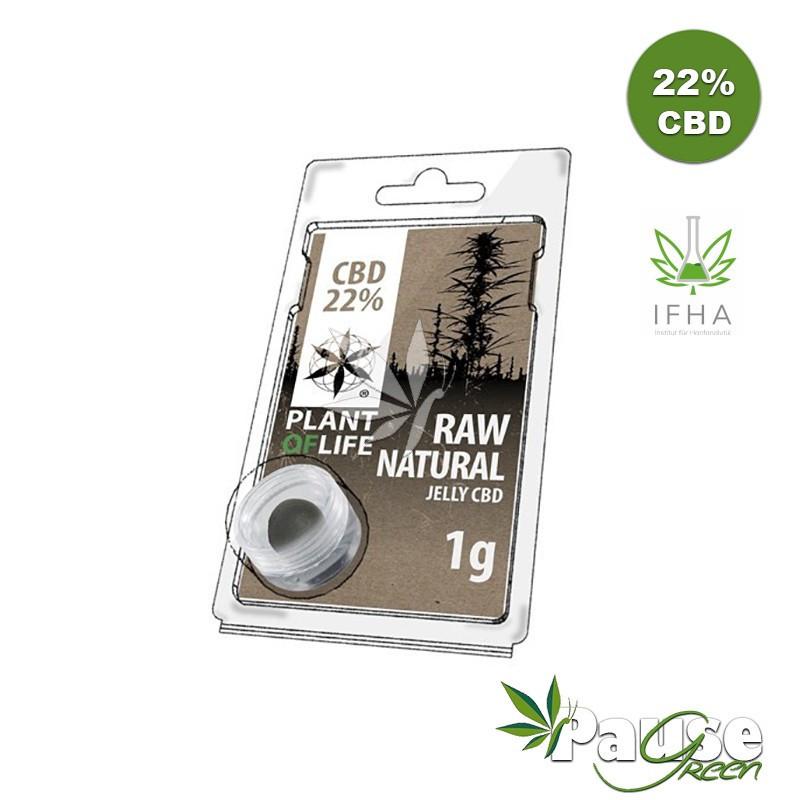 Résine Jelly 22% de CBD - NATURAL RAW - 1g - Plant Of Life ™