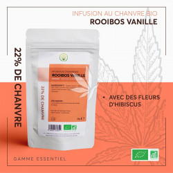 Infusion au chanvre | Rooibos - Vanille 25g | Gamme Essentiel