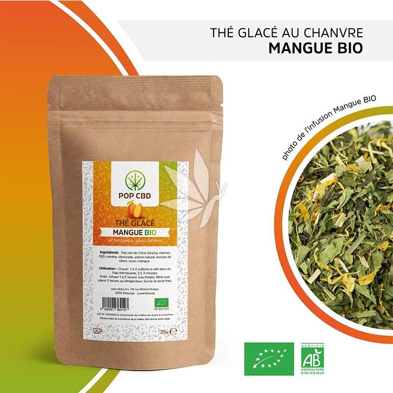 Thé au chanvre MANGUE - 35g   Gamme Fruitées