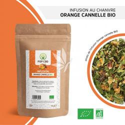 Infusion au chanvre ORANGE - CANNELLE - 35g | Gamme Fruitées