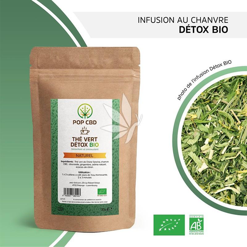 Thé au chanvre DETOX - 35g | Gamme Bien-être