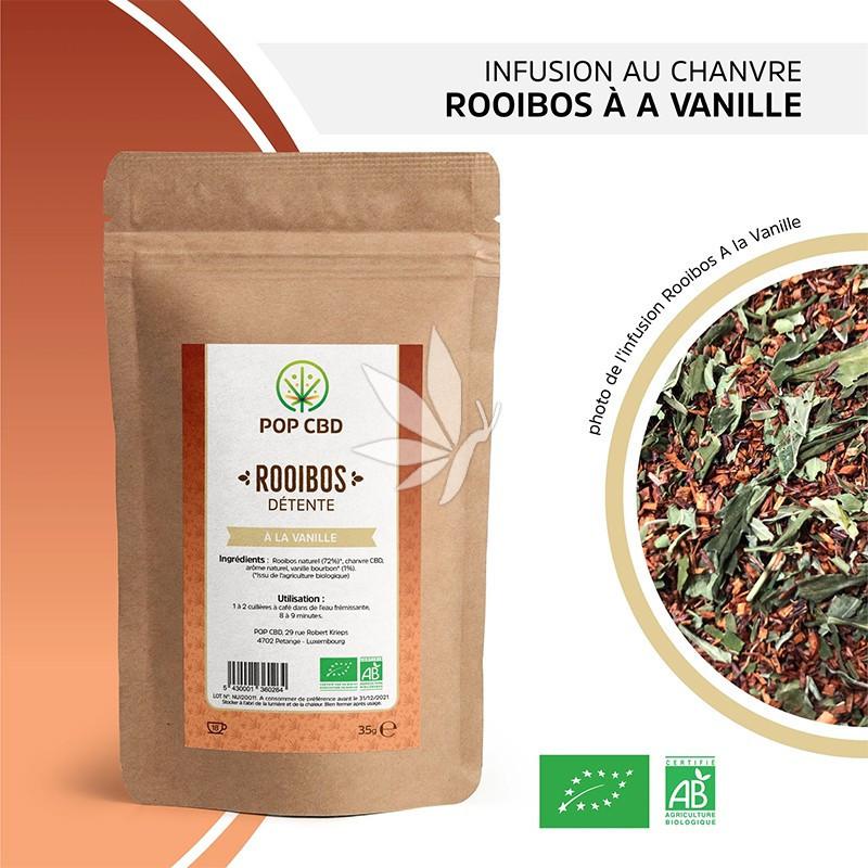 Infusion au chanvre / Rooibos - Vanille - 35g   Gamme Bien-être