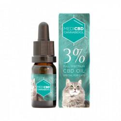 Huile au CBD 3% - 10ml - Spéciale chat - Large Spectre