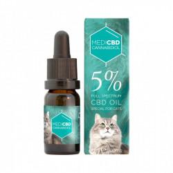 Huile au CBD 5% - 10ml - Spéciale chat - Large Spectre