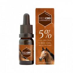 Huile au CBD 5% - 10ml - Spéciale cheval - Large Spectre