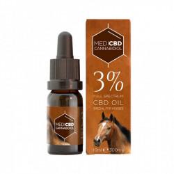 Huile au CBD 3% - 10ml - Spéciale cheval - Large Spectre