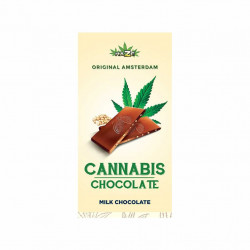 Chocolat au lait aux graines de chanvre (80g) - Haze