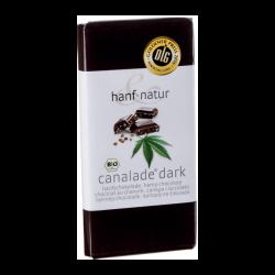 Chocolat noir 70% fourré aux graines de chanvre (100g) - Hanf Natur