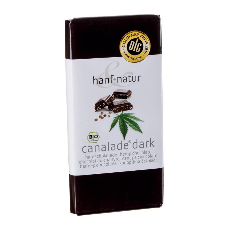 Chocolat noir 70% fourré aux graines de chanvre 100g