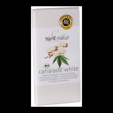 Chocolat blanc 30% fourré aux graines de chanvre (100g) - Hanf Natur