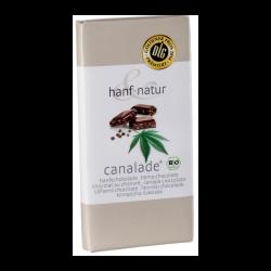 Chocolat au lait 33% fourré aux graines de chanvre (100g) - Hanf Natur