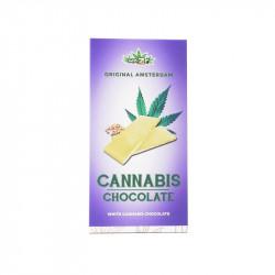 Chocolat blanc aux graines de chanvre (80g) - Haze