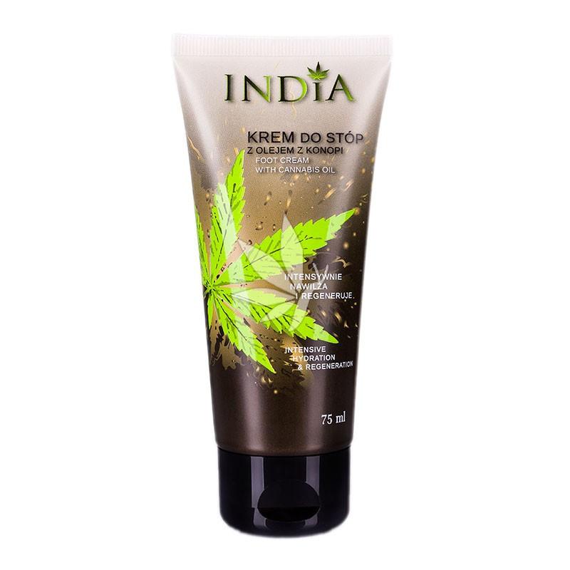 Crème pour les pieds hydratante et protectrice à l'huile de chanvre - 100ml - INDIA®