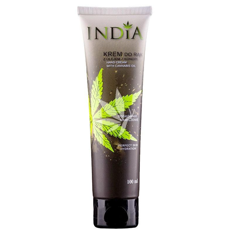 Crème pour les mains protectrice et hydratante à l'huile de chanvre - 100ml - INDIA®