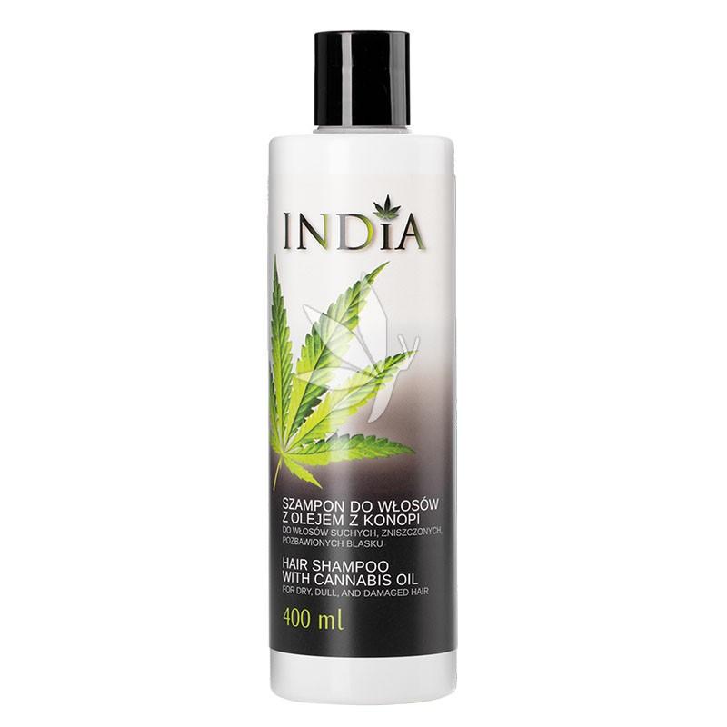 Shampoing hydratant à l'huile de chanvre - 400ml - INDIA®