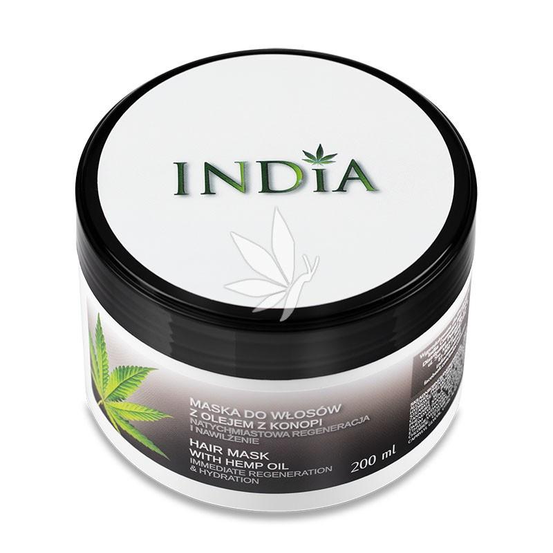 Masque capillaire à l'huile de chanvre 200ml - INDIA®