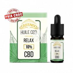 Huile Relax 10% d'isolat de CBD - 10ml - Greeneo®