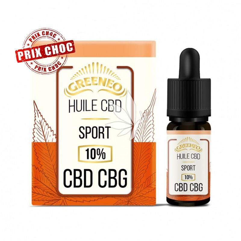 Huile SPORT 10% CBD et CBG - 10ml - Greeneo®