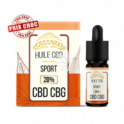 Huile SPORT 20% CBD et CBG - 10ml - Greeneo®