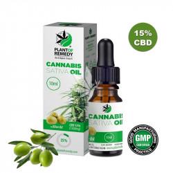 Huile de cristaux de CBD 15% à l'huile d'olive - 10ml - Plant Of Remedy®