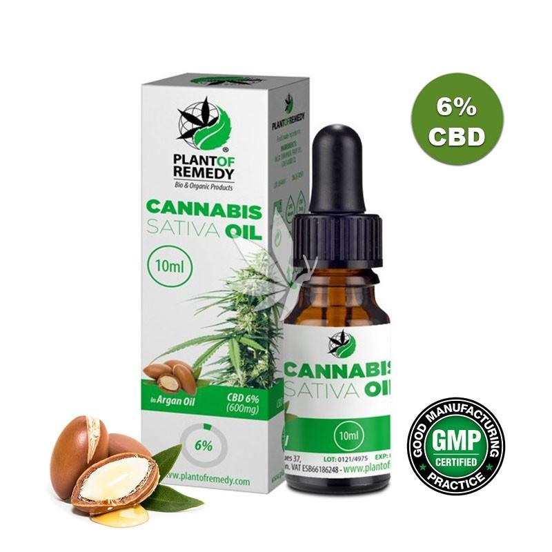 Huile de cristaux de CBD 6% à l'huile d'argan - 10ml - Plant Of Remedy®