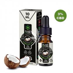 Huile de coco MCT 3% de CBD - Spectre complet - 10ml - Plant Of Life®