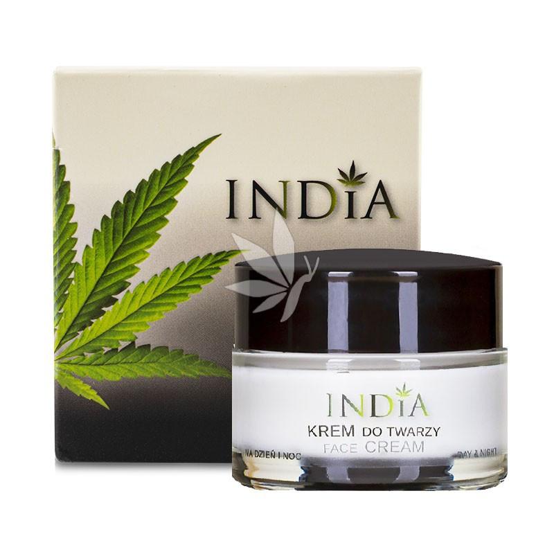 Crème visage jour & nuit à l'huile de chanvre - 50ml - INDIA®