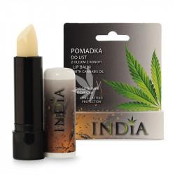 Baume à lèvres hydratant et protecteur incolore à l'huile de chanvre - 3,8g - INDIA®