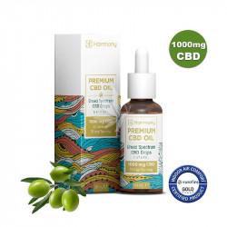 Huile MCT et olive 1000mg de CBD - Spectre large - 30ml - Harmony®
