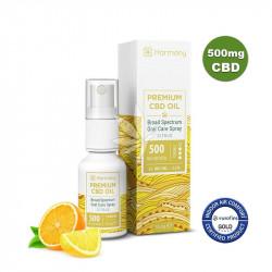 Spray à l'huile de chanvre 500mg de CBD aux agrumes - Spectre large - 15ml - Harmony®