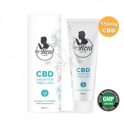 Crème 550mg de CBD jambes fatiguées Dr. Kent  100ml - PharmaHemp®