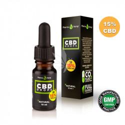 Huile MCT 15% CBD spectre large à l'huile d'olive 10ml - PharmaHemp®