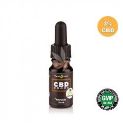 Huile MCT avec 3% CBD spectre large 10ml - PharmaHemp®