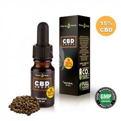 Huile MCT avec 15% CBD spectre large 10ml - PharmaHemp®