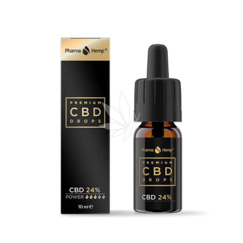 Huile PREMIUM 24% de CBD spectre complet 10ml - PharmaHemp®